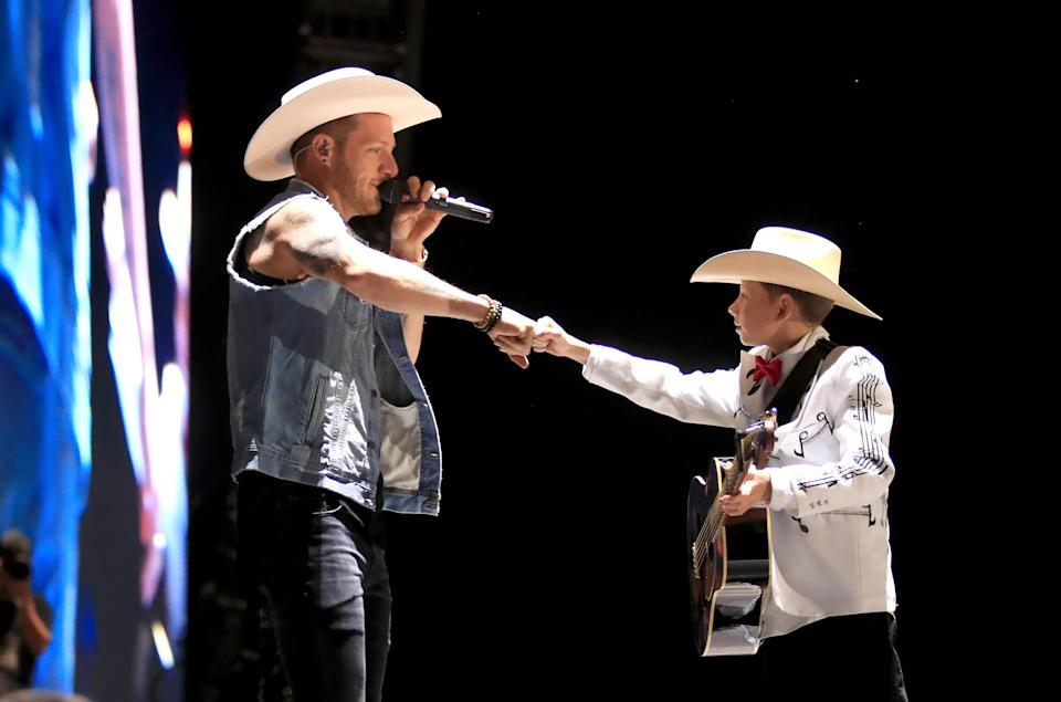 Florida Georgia Line and Mason Ramsey perform at Stagecoach. (Photo: Christopher Polk/Getty)