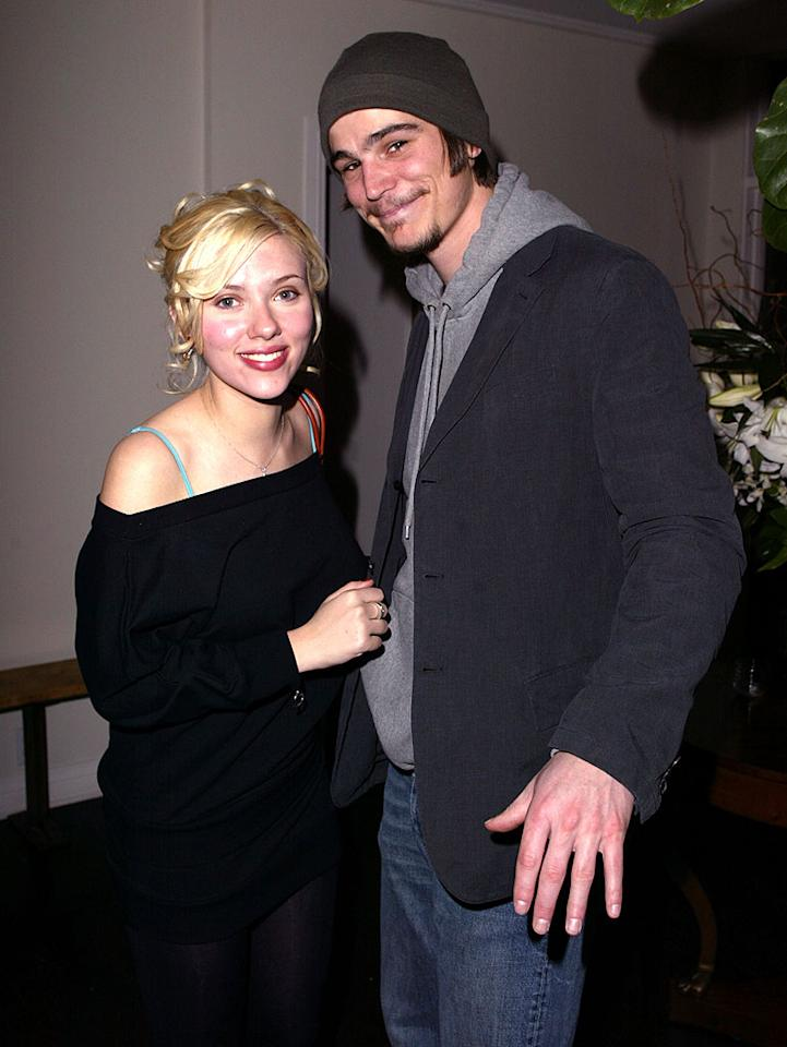 """She may be Mrs. Ryan Reynolds now, but Scarlett Johansson once had a fling with another Hollywood hunk: Josh Hartnett. Jeff Vespa/<a href=""""http://www.wireimage.com"""" target=""""new"""">WireImage.com</a> - January 10, 2004"""