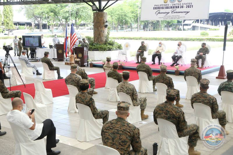 The Armed Forces of the Philippines (AFP) and United States Military open the 36th Balikatan Exercise (BK36-21) at Camp Aguinaldo