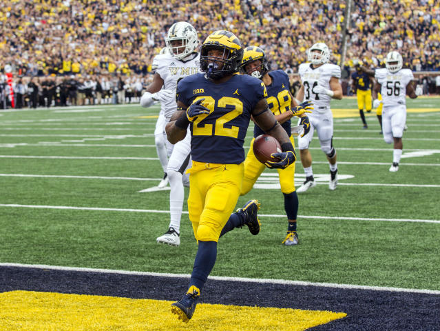 Will Michigan running back Karan Higdon have success against Ohio State? He guaranteed a victory for the Maize and Blue. (AP)