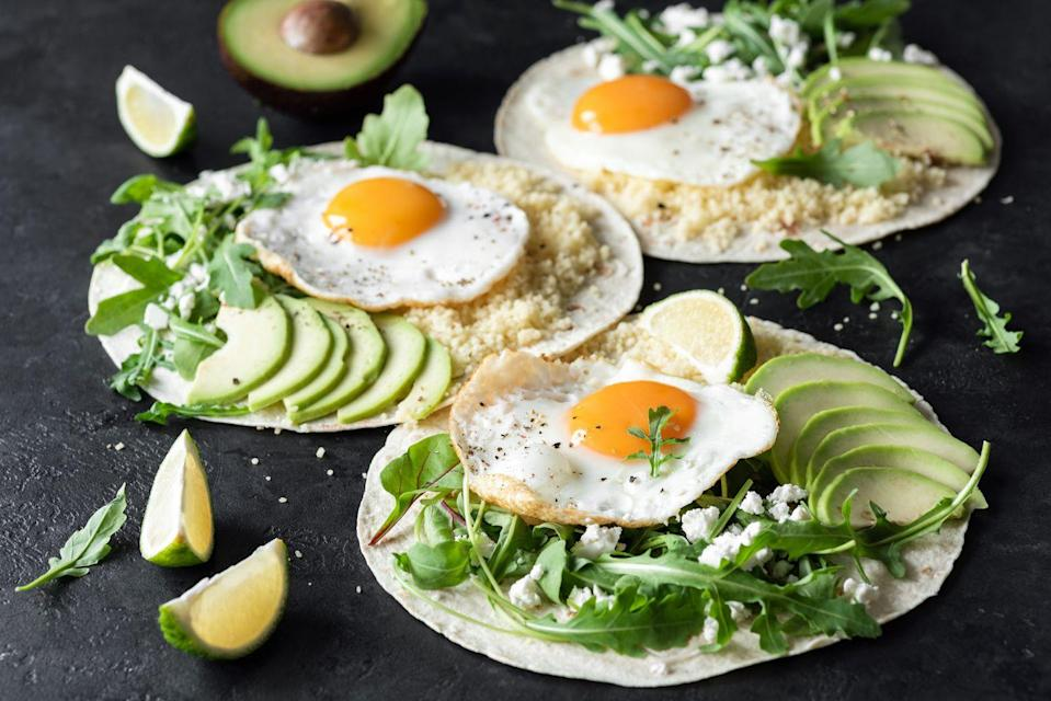 <p>If you don't really feel like putting a ton of effort into breakfast, use your leftovers. Chances are good that last night's dinner can be transformed into breakfast food simply by adding an egg on top. Eggs are easy to make and go with almost everything, so this is a pretty versatile option. </p>