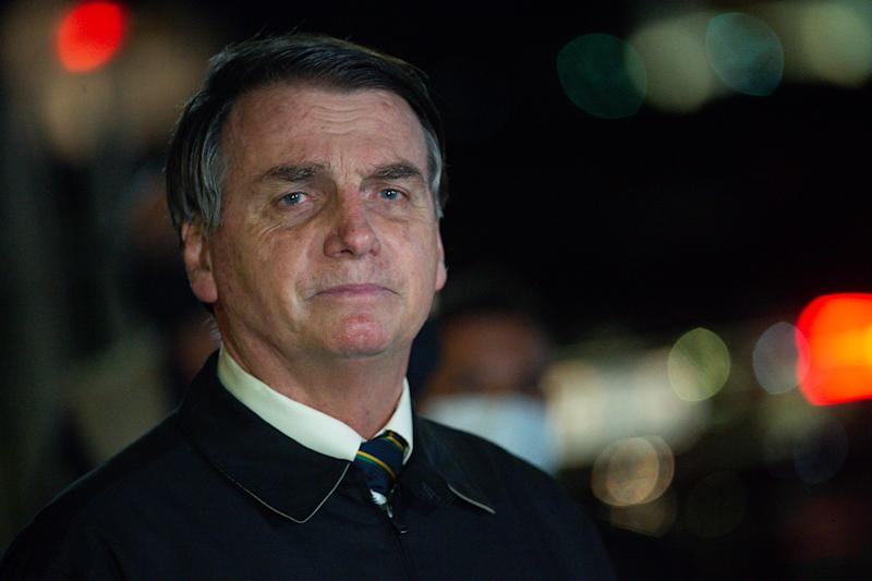 President Bolsonaro Speaks to the Press About Controversial Cabinet Meeting Video