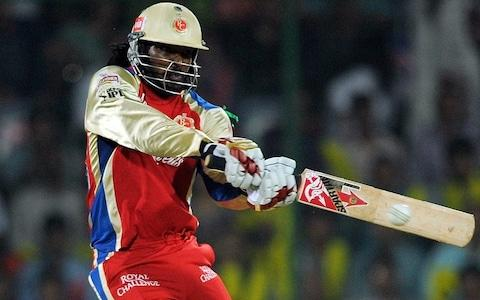 <span>Chris Gayle has had a similar impact on the IPL to McCullum</span> <span>Credit: AFP </span>