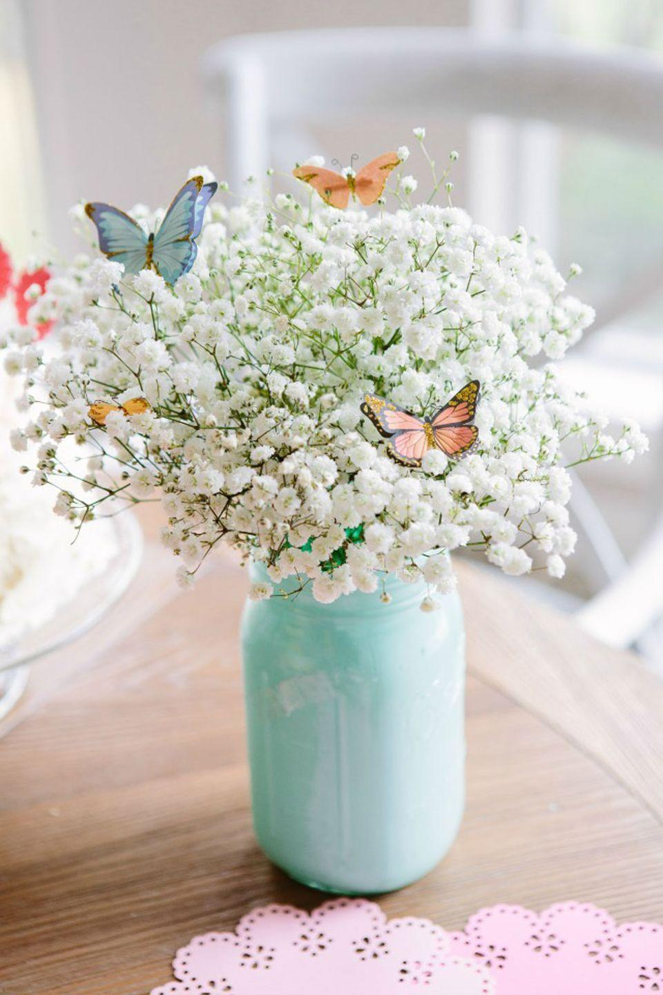 "<p>Paint a collection of <a href=""https://www.countryliving.com/diy-crafts/g2264/spring-mason-jars/"" rel=""nofollow noopener"" target=""_blank"" data-ylk=""slk:Mason jars"" class=""link rapid-noclick-resp"">Mason jars</a> in cheerful pastel shades to use as centerpiece vases all spring long.</p><p><strong>Get the tutorial at <a href=""http://www.designimprovised.com/2014/04/mothers-day-brunch.html"" rel=""nofollow noopener"" target=""_blank"" data-ylk=""slk:Design Improvised"" class=""link rapid-noclick-resp"">Design Improvised</a>.</strong></p><p><a class=""link rapid-noclick-resp"" href=""https://www.amazon.com/Ball-Regular-32-Ounces-2-Units-Pack/dp/B01N6QBJG0/ref=sr_1_8?tag=syn-yahoo-20&ascsubtag=%5Bartid%7C10050.g.1652%5Bsrc%7Cyahoo-us"" rel=""nofollow noopener"" target=""_blank"" data-ylk=""slk:SHOP MASON JARS"">SHOP MASON JARS</a></p>"