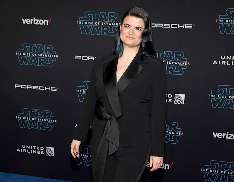 "HOLLYWOOD, CALIFORNIA - DECEMBER 16: Writer/director Leslye Headland attends the premiere of Disney's ""Star Wars: The Rise of Skywalker"" on December 16, 2019 in Hollywood, California. (Photo by Ethan Miller/FilmMagic)"