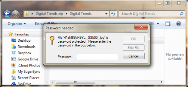 how to make folder password protected in windows 7