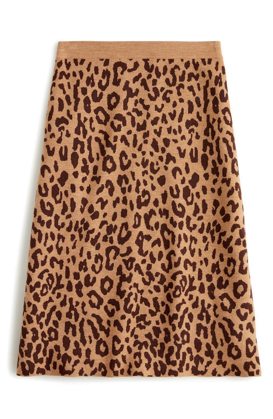 """<p><strong>J.CREW</strong></p><p>nordstrom.com</p><p><strong>$58.49</strong></p><p><a href=""""https://go.redirectingat.com?id=74968X1596630&url=https%3A%2F%2Fwww.nordstrom.com%2Fs%2Fj-crew-leopard-sweater-skirt%2F5755706&sref=https%3A%2F%2Fwww.elle.com%2Ffashion%2Fshopping%2Fg34741930%2Fnordstrom-12-days-of-cyber-savings-sale%2F"""" rel=""""nofollow noopener"""" target=""""_blank"""" data-ylk=""""slk:Shop Now"""" class=""""link rapid-noclick-resp"""">Shop Now</a></p>"""