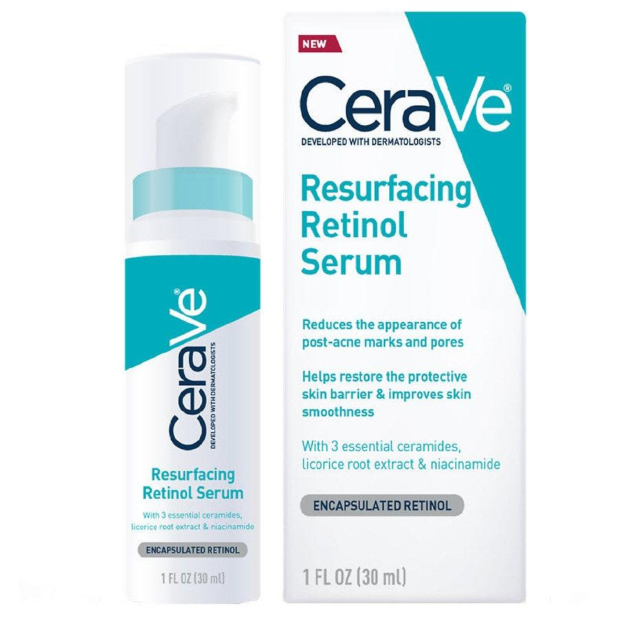 "<p>It's always exciting when a new retinol formula launches at an accessible price, especially when it's coming from a dermatologist-beloved brand like CeraVe. In addition to refining skin's texture, the Resurfacing Retinol Serum helps reduce discoloration with the help of licorice root and niacinamide, all the while protecting sensitive skin's barrier with ceramides.</p> <p><strong>$20</strong> (<a href=""https://www.target.com/p/cerave-resurfacing-retinol-serum-1-fl-oz/-/A-76545879"" rel=""nofollow"">Shop Now</a>)</p>"