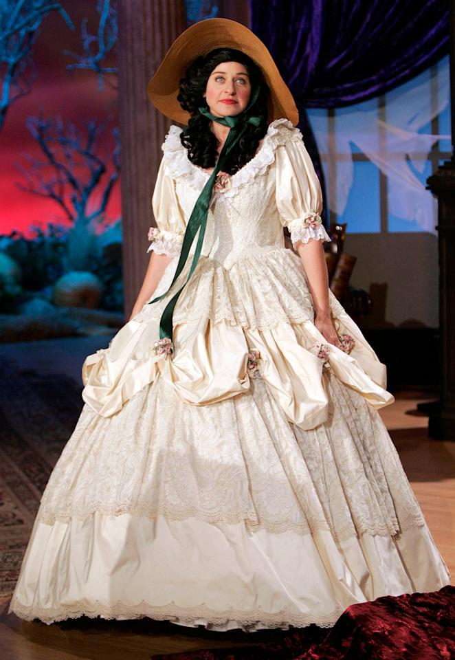 In 2004, Ellen showed off her Scarlett O'Hara costume from <em>Gone with the Wind. </em>
