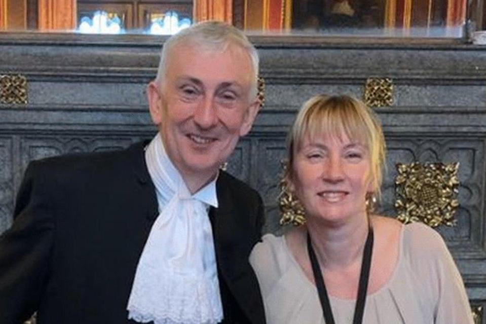 """Commons Speaker Sir Lindsay Hoyle has unveiled a plaque to Julia Clifford, saying """"we have lost one of our dearest friends"""".  (Jessica Taylor/UK Parliament)"""
