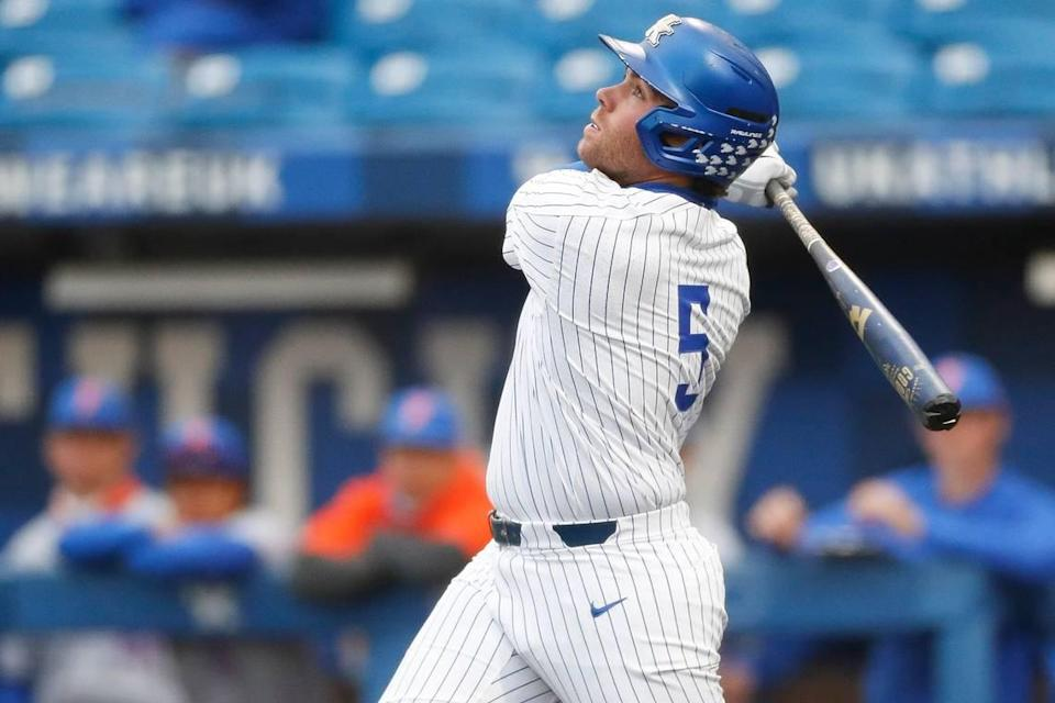Entering the weekend, T.J. Collett (5) needed nine home runs to catch John Wilson for UK's all-time record of 50.