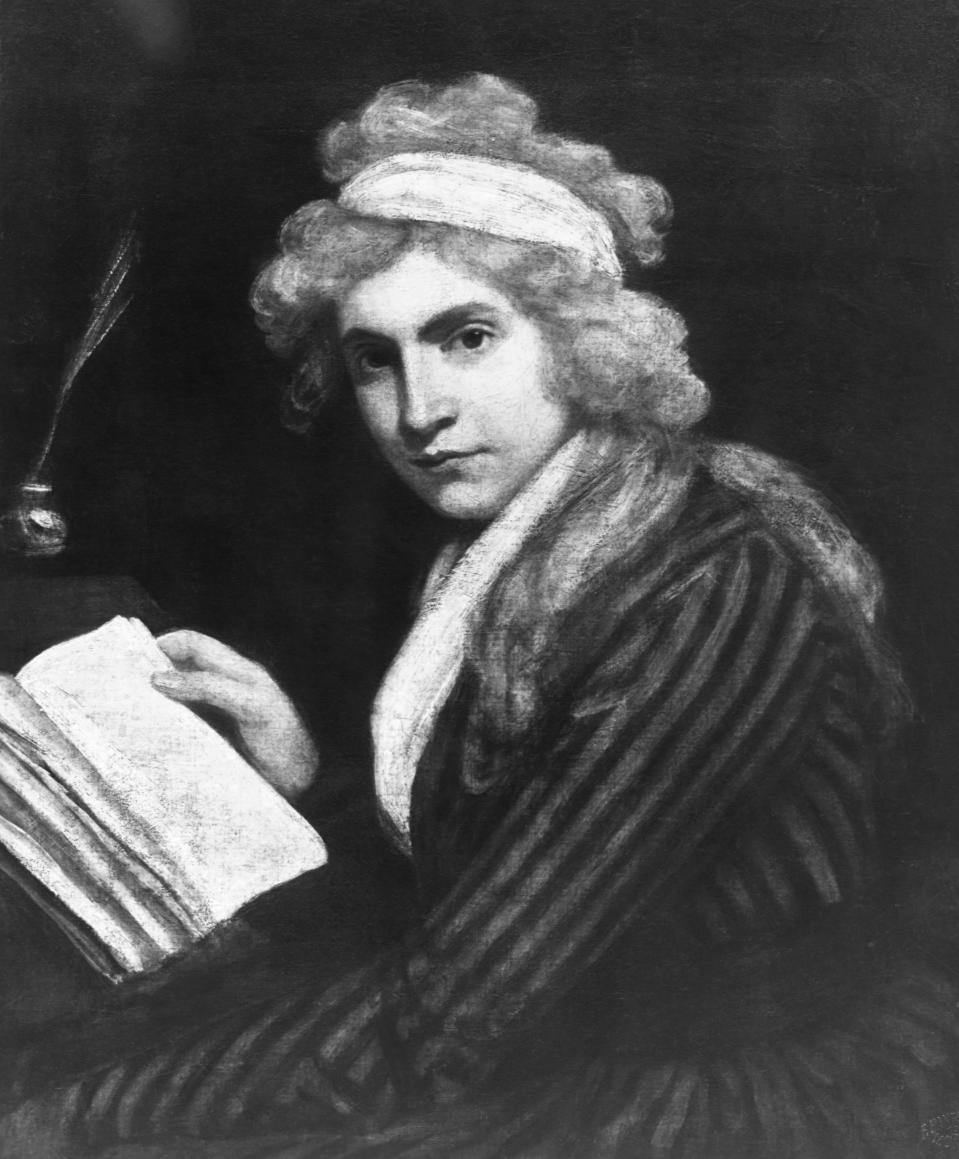 "Mary Wollstonecraft was an English author, best known for her ""Vindication of the Rights of Woman,"" written in 1792, which was an influential attack on conventions. (Photo: © CORBIS/Corbis via Getty Images)"