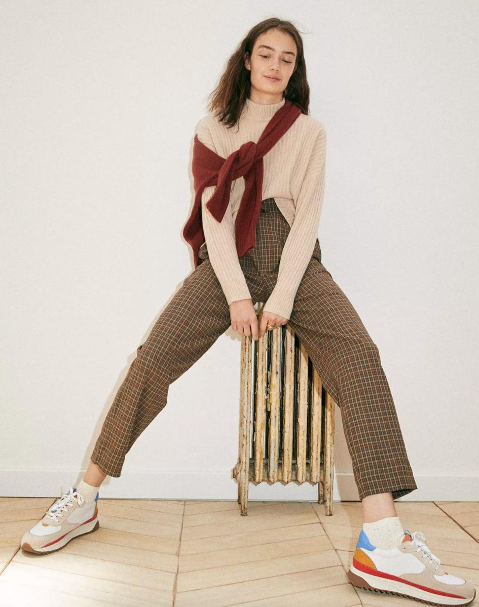 <p>If you love plaid, opt for the cool <span>Madewell Plaid Paperbag Tapered Pants</span> ($118).</p>
