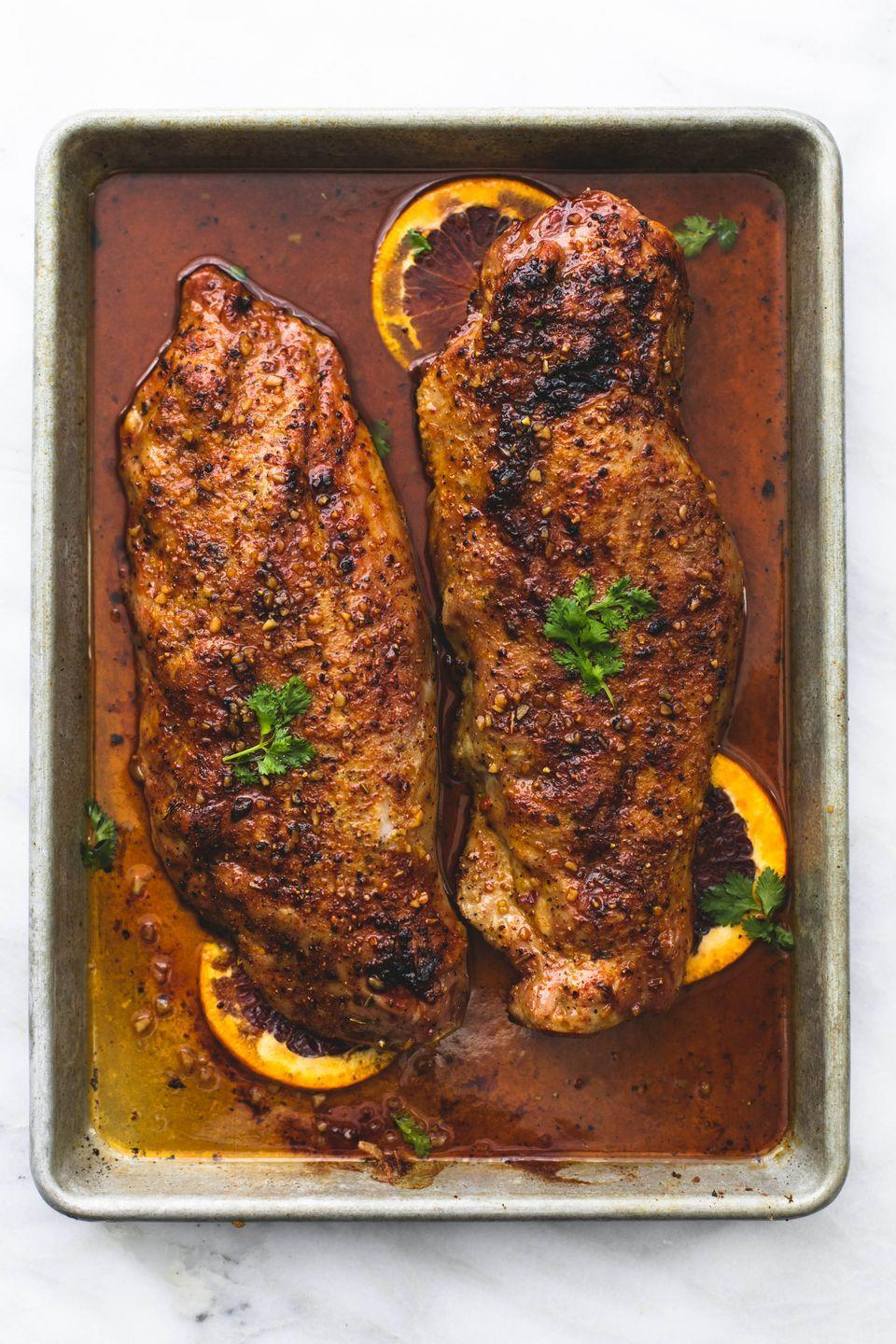 "<p>You deserve something fancy on a weeknight.</p><p>Get the recipe from <a href=""https://www.delish.com/cooking/recipe-ideas/recipes/a52049/glazed-pork-tenderloin-recipe/"" rel=""nofollow noopener"" target=""_blank"" data-ylk=""slk:Delish"" class=""link rapid-noclick-resp"">Delish</a>.</p>"