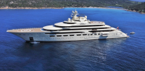 """<p><em>Dilbar</em> is owned by Russian billionaire Alisher Usmanov and is considered the largest yacht in the world by gross tonnage and interior volume. Usmanov named this <a href=""""https://www.lurssen.com/en/home/"""" rel=""""nofollow noopener"""" target=""""_blank"""" data-ylk=""""slk:Lurssen"""" class=""""link rapid-noclick-resp"""">Lurssen </a>masterpiece after his mother. Some of this boat's amenities include a 82-foot indoor swimming pool, sauna and massage room, movie theater, and underwater lights. <em>Dilbar</em> accommodates 40 guests and 80 crew members.</p>"""