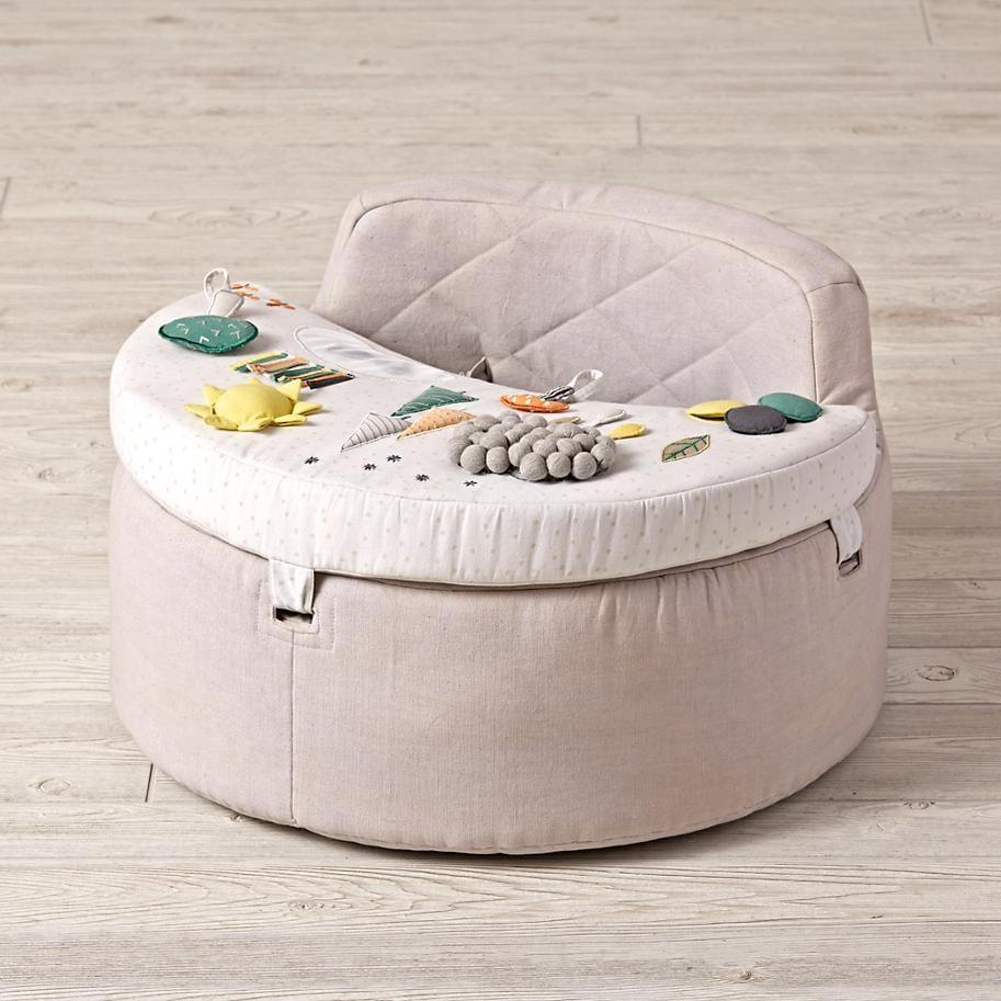 <p>Little ones will love how they can stay entertained in this <span>Busy Baby Activity Chair</span> ($139). It has a mirror, rattle, squeaky toy, and more.</p>