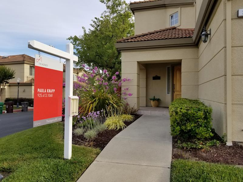 Realtor's For Sale sign outside a home in the San Francisco Bay Area, San Ramon, California, June 7, 2019. (Photo by Smith Collection/Gado/Getty Images)