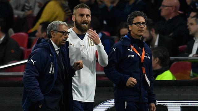 Having been substituted for Italy against Netherlands with a back injury, Daniele De Rossi is now a doubt for Roma's upcoming fixtures.