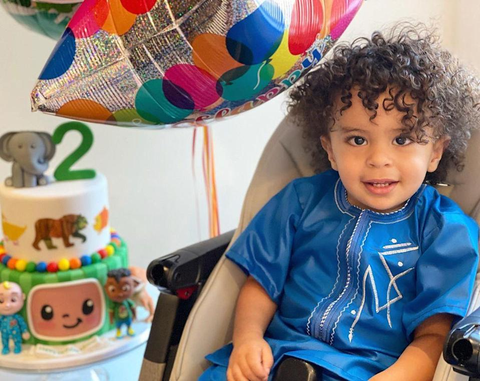 """<p>Tamron Hall's son <a href=""""https://people.com/parents/tamron-hall-welcomes-first-child-moses/"""" rel=""""nofollow noopener"""" target=""""_blank"""" data-ylk=""""slk:Moses"""" class=""""link rapid-noclick-resp"""">Moses</a> turned 2 on April 24.</p>"""