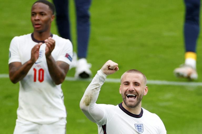 Luke Shaw (right) has three assists in just four appearances at Euro 2020