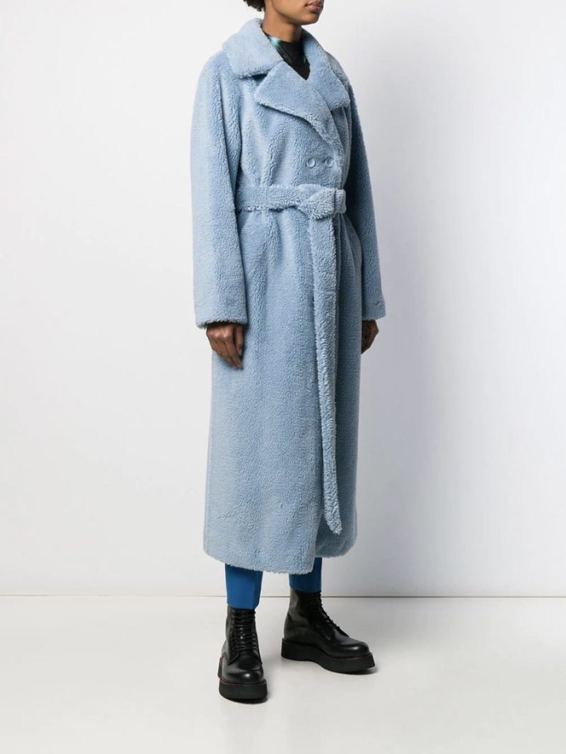 Stand Studio double-breasted belted coat (Credit: Farfetch)