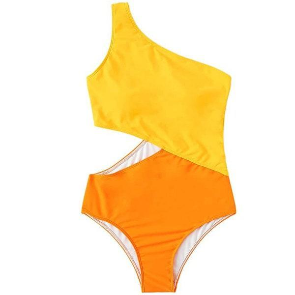 "The brighter the color-blocking situation, the better. $24, Amazon. <a href=""https://www.amazon.com/SweatyRocks-Shoulder-Swimsuit-Swimwear-Monokini/dp/B07S9ZJQVJ"" rel=""nofollow noopener"" target=""_blank"" data-ylk=""slk:Get it now!"" class=""link rapid-noclick-resp"">Get it now!</a>"