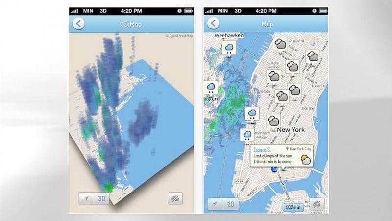 Traditional Weather Map.Minutely Combines Traditional Weather Forecasts With Crowdsourced Data