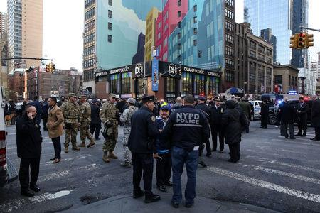 NYC police report blast near Times Square
