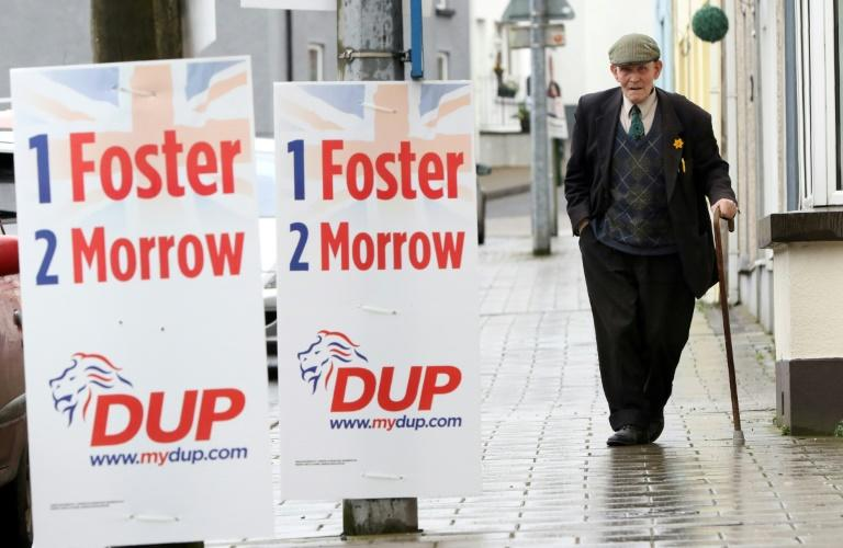 Election campaign posters in Northern Ireland, photographed on March 2, 2017