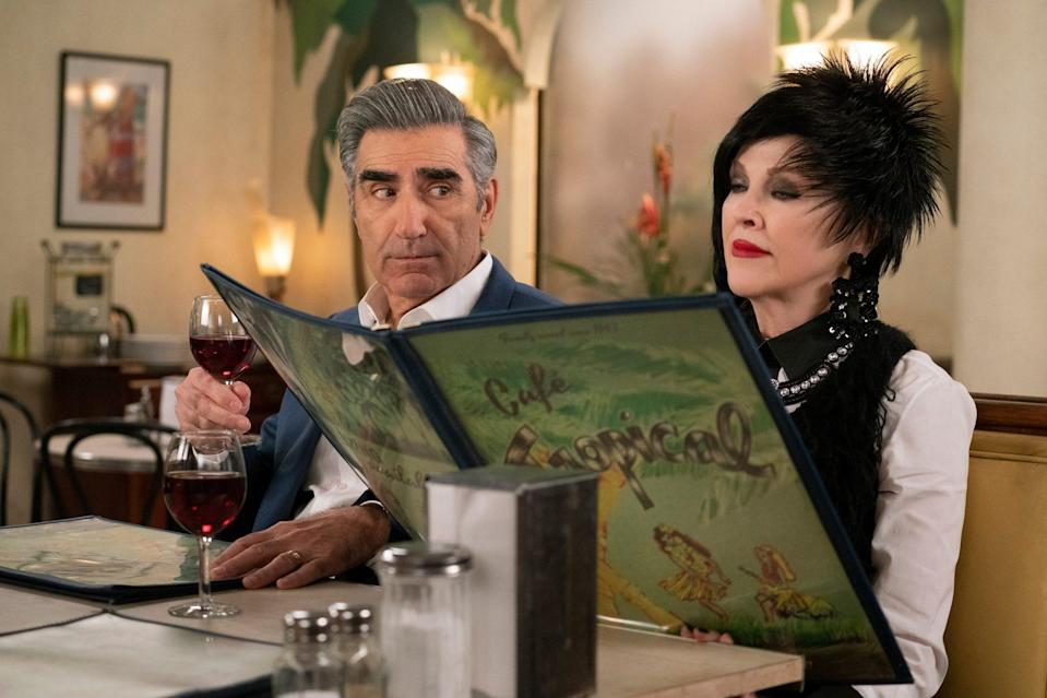 <p>Like father, like son. Eugene Levy and his son, Daniel Levy, are both nominated for the first time for their roles in <em>Schitt's Creek</em>. Eugene is nominated for his role the Rose family patriarch, Johnny Rose, in the best television actor – musical or comedy series category. </p>