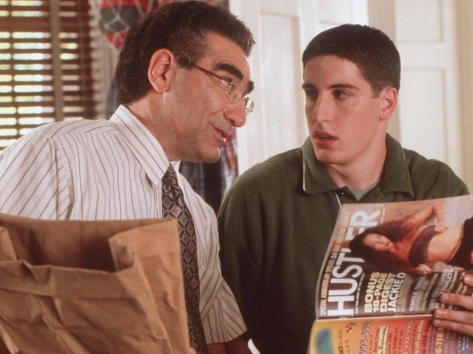 Eugene Levy and Jason Biggs in 'American Pie' (Getty Images)