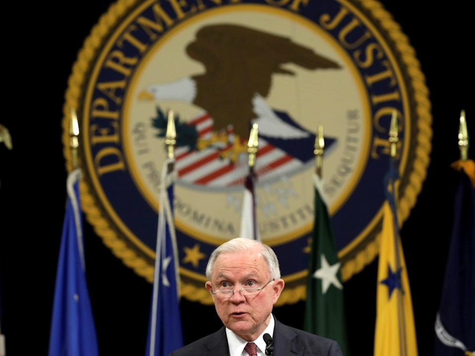 <p>In 2017, when Donald Trump was still president, the Department of Justice reportedly monitored the <em>Washington Post</em>'s phone records</p> (Reuters)