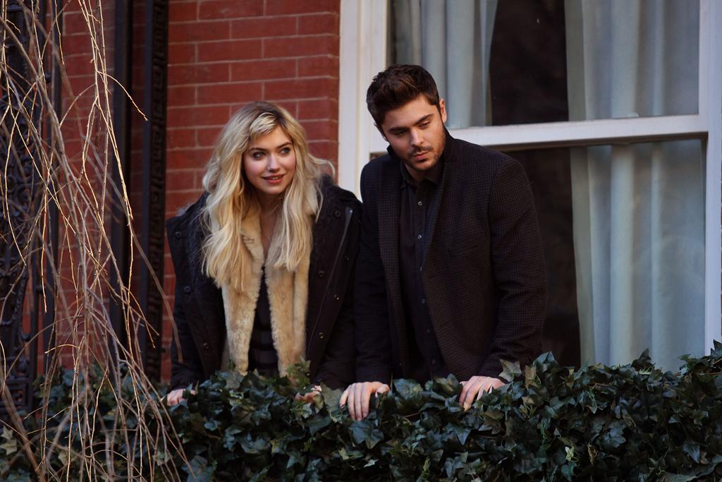 January 7, 2013: Imogen Poots, Zac Efron on the set of the new movie 'Are We Offcially Dating' in New York City.