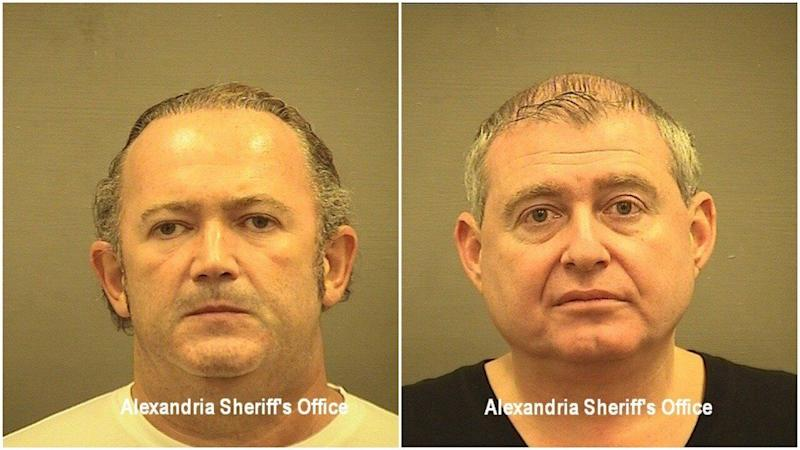 Mug shots of Igor Fruman (L) and Lev Parnas. (Photo: Alexandria Sheriff's Office)