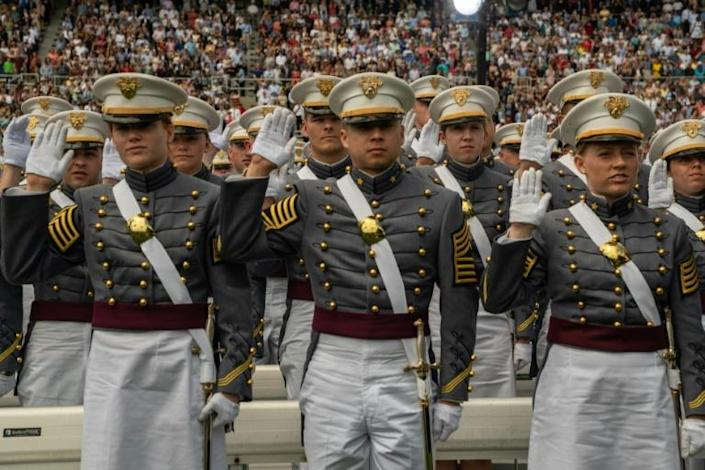 Graduation Day at the US Military Academy at West Point in 2019 (AFP Photo/David Dee Delgado)
