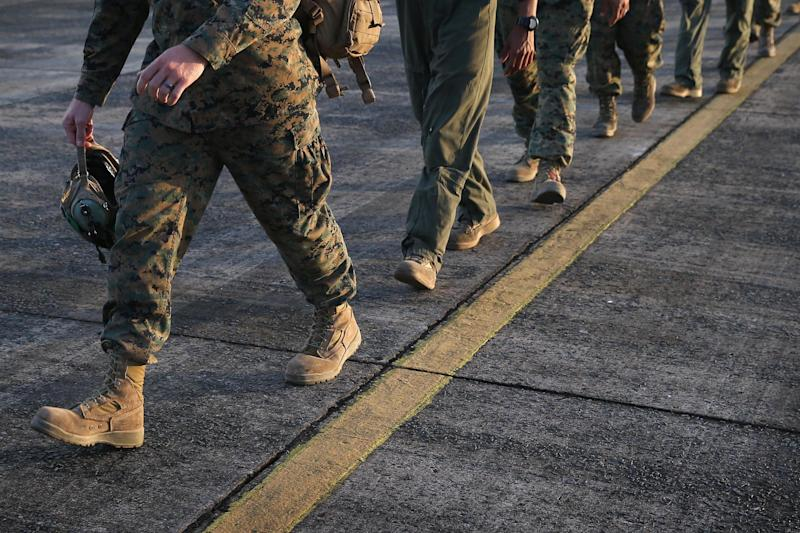 US Marines are being investigated for sharing nude pictures of their female colleagues: Getty Images