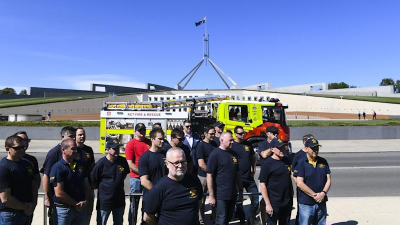 CANBERRA FIRE FIGHTERS UNION RALLY