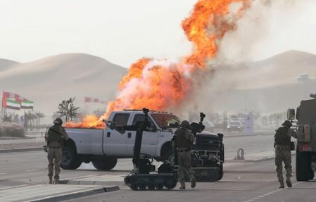 FILE PHOTO: UAE Armed Forces perform live military drills in Al Ain