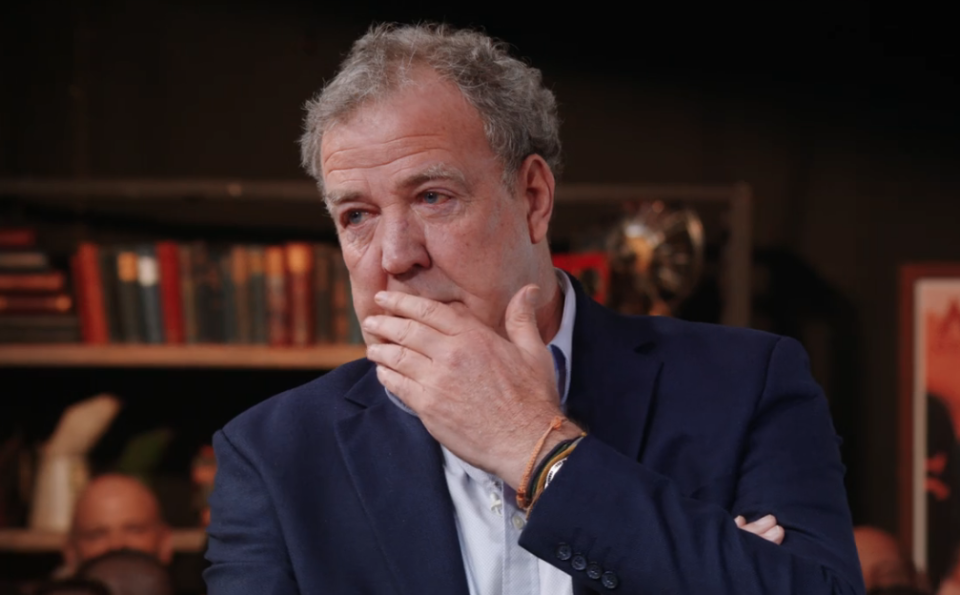 Clarkson on the last episode of The Grand Tour (Credit: Amazon)