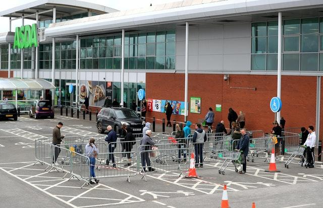 Asda queue