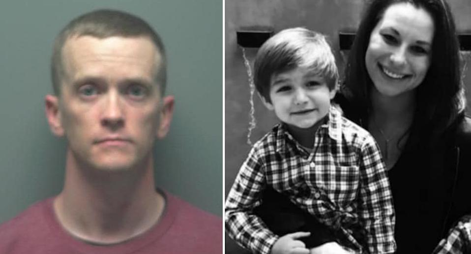 Bryan Starr, left, has been charged over the incident. Mother and Austin pictured right.