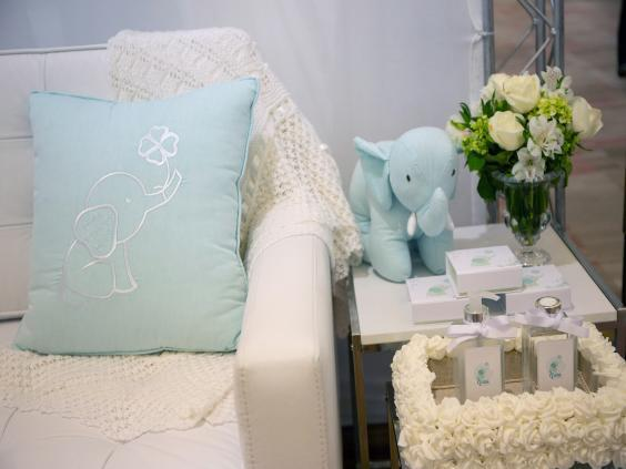 Elephants decorate newborn-room displays (Petala Lopes for The Washington Post)