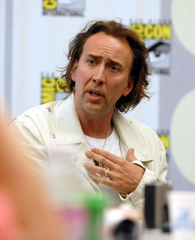 "<p>Cage is famously a <em>Superman</em> superfan. In 2011, he sold a perfect copy of the comic book featuring the first appearance of the Man of Steel for <a href=""https://www.hollywoodreporter.com/heat-vision/nicolas-cage-superman-comic-record-2-million-sale-267770"" rel=""nofollow noopener"" target=""_blank"" data-ylk=""slk:a cool $2.16 million"" class=""link rapid-noclick-resp"">a cool $2.16 million</a> — the first comic to sell for more than $2 million at auction. He <a href=""https://www.yahoo.com/entertainment/nicolas-cage-insists-superman-lives-beautiful-191455869.html"" data-ylk=""slk:almost starred as the hero in Tim Burton's aborted film project"" class=""link rapid-noclick-resp newsroom-embed-article"">almost starred as the hero in Tim Burton's aborted film project</a>. Cage also named his son, Kal-El, after the character's birth name back on Planet Krypton. ""<span>I wanted a name that stood for something good, was unique and American and that's all three,"" Cage explained to <a href=""http://celebritybabies.people.com/2007/02/14/nicolas_cage_ex/"" rel=""nofollow noopener"" target=""_blank"" data-ylk=""slk:People"" class=""link rapid-noclick-resp""><em>People</em></a> in February 2007. </span>(Photo: Getty Images) </p>"