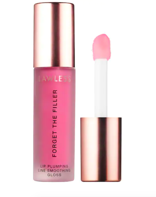 """<h2>Plumping Gloss</h2><br><strong><h3>Lawless Beauty Forget The Filler Lip Plumper Line Smoothing Gloss</h3></strong><br>Blame <a href=""""https://www.refinery29.com/en-us/2020/06/9883350/tiktok-beauty-hacks-trends-review"""" rel=""""nofollow noopener"""" target=""""_blank"""" data-ylk=""""slk:TikTok"""" class=""""link rapid-noclick-resp"""">TikTok</a> or the rise in <a href=""""https://www.refinery29.com/en-us/2020/12/10198702/most-popular-plastic-surgery-trends-2020"""" rel=""""nofollow noopener"""" target=""""_blank"""" data-ylk=""""slk:popularity of lip flips and filler"""" class=""""link rapid-noclick-resp"""">popularity of lip flips and filler</a>, but many brands have recently formulated <a href=""""https://www.refinery29.com/en-us/best-lip-plumper-reviews"""" rel=""""nofollow noopener"""" target=""""_blank"""" data-ylk=""""slk:&quot;plumping&quot; lip products"""" class=""""link rapid-noclick-resp"""">""""plumping"""" lip products</a>. This new one from Lawless Beauty has garnered rave reviews for its sheer-pink shade range, non-sticky consistency, and the fact that it offers subtle plumping — without the burn.<br><br><strong>Lawless Beauty</strong> Forget The Filler Lip Plumper Line Smoothing Gloss, $, available at <a href=""""https://go.skimresources.com/?id=30283X879131&url=https%3A%2F%2Fwww.sephora.com%2Fproduct%2Flawless-forget-filler-lip-plumping-line-smoothing-gloss-P468175"""" rel=""""nofollow noopener"""" target=""""_blank"""" data-ylk=""""slk:Sephora"""" class=""""link rapid-noclick-resp"""">Sephora</a>"""
