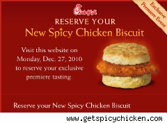 Chick-fil-A banner for free spicy chicken biscuit