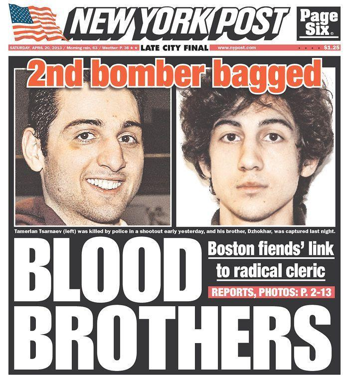 """Blood Brothers."" New York Post, April 20, 2013."