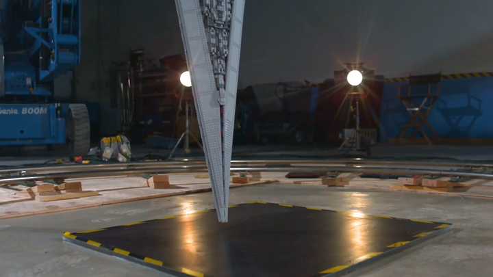 The beauty of a Lego Star Destroyer exploding at 1,000