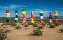 """<p><strong>Seven Magic Mountains</strong></p><p>An Instagrammer's dream, the <a href=""""http://sevenmagicmountains.com/"""" rel=""""nofollow noopener"""" target=""""_blank"""" data-ylk=""""slk:Seven Magic Mountains"""" class=""""link rapid-noclick-resp"""">Seven Magic Mountains</a> located a short drive outside of <a href=""""https://www.visitlasvegas.com/"""" rel=""""nofollow noopener"""" target=""""_blank"""" data-ylk=""""slk:Las Vegas"""" class=""""link rapid-noclick-resp"""">Las Vegas</a> is magical photo op. This installation of seven colorful and vibrant stacked """"mountains"""" is by Swiss artist Ugo Rondinone. Visit sooner than later as the exhibit will be taken down at the end of 2021.</p>"""