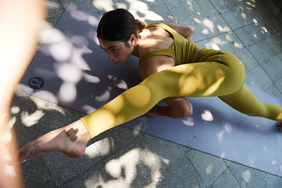 Lululemon's new Instill Tight is the latest must-have for yoga. Image courtesy of Lululemon.