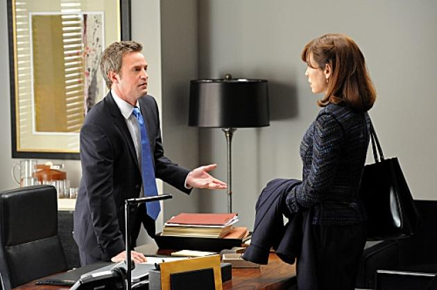 Matthew Perry with Julianna Margulies on 'The Good Wife' -- CBS
